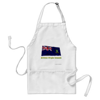 British Virgin Islands Waving Flag with Name Standard Apron