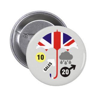 British Weather Forecast 6 Cm Round Badge