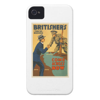 Britishers Come Across Now WWI British Propaganda iPhone 4 Cover