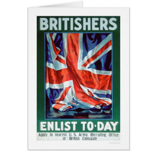 Britishers Enlist Today (US02116) Greeting Card