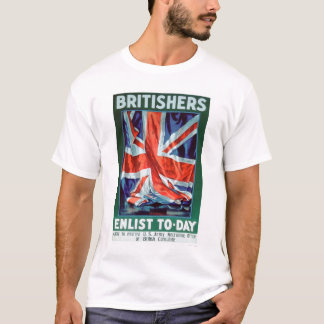 Britishers Enlist Today (US02116) T-Shirt