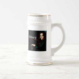 Britney Christian CD Cover Beer Stein