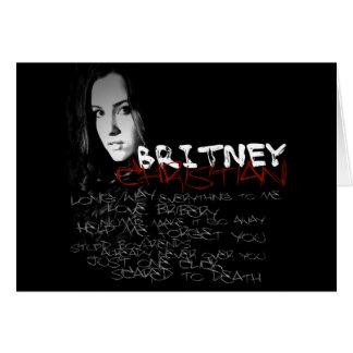 Britney Christian Lyrics Card