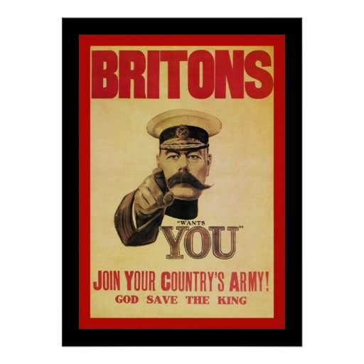 Britons ~ Join Your Country's Army! Print