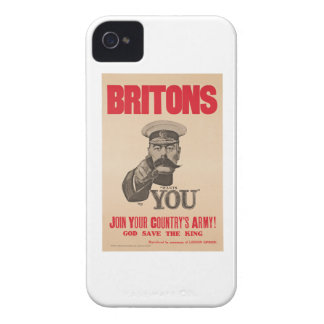 Britons Lord Kitchener Wants You WWI Propaganda iPhone 4 Case-Mate Cases