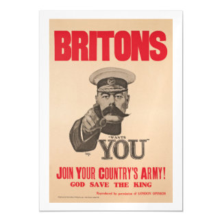 Britons Lord Kitchener Wants You WWI Propaganda Magnetic Invitations