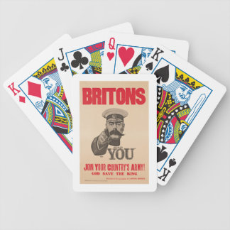 Britons Lord Kitchener Wants You WWI Propaganda Poker Deck