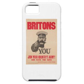 Britons Lord Kitchener Wants You WWI Propaganda Tough iPhone 5 Case