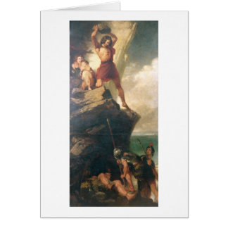Britons repelling invading Romans Greeting Card