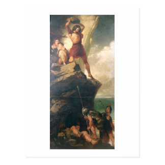 Britons repelling invading Romans Postcard