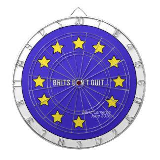 """""""Brits Don't Quit"""" Brexit Dartboard"""