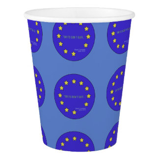"""""""Brits Don't Quit!"""" Brexit-Inspired Paper Cup"""