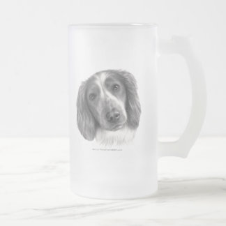 Britt, Welsh Springer Spaniel Frosted Glass Beer Mug