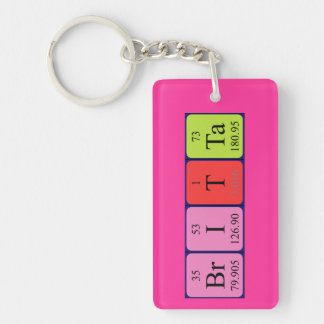 Britta periodic table name keyring