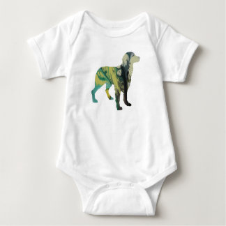 Brittany Dog Art Baby Bodysuit