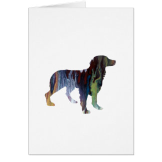 Brittany Dog Art Card