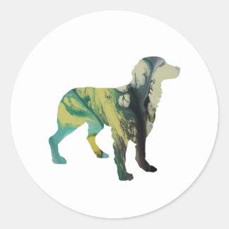 Brittany Dog Art Classic Round Sticker