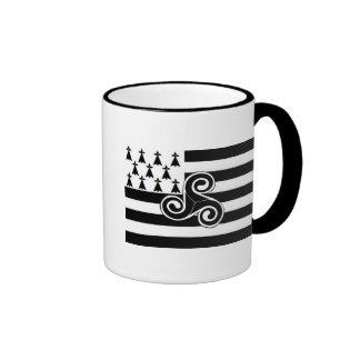 Brittany Flag (Breton) Ringer Mug