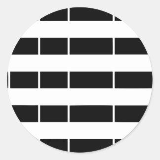 Brittany flag classic round sticker