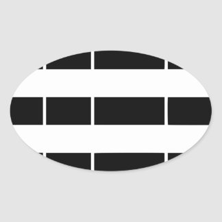 Brittany flag oval sticker