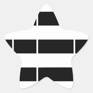 Brittany flag star sticker