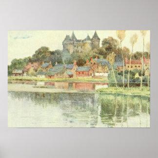 Brittany France Castle Poster