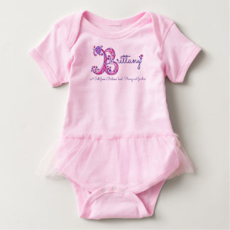 Brittany girls B name meaning monogram shirt