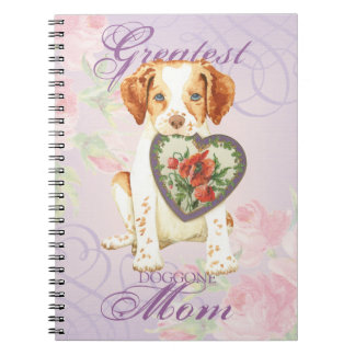 Brittany Heart Mom Spiral Note Book