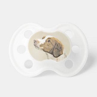 Brittany Painting - Cute Original Dog Art Dummy