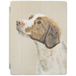 Brittany Painting - Cute Original Dog Art iPad Cover