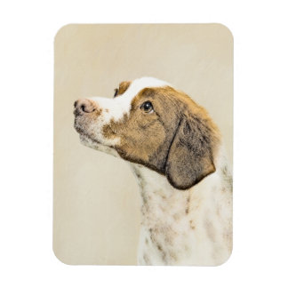 Brittany Painting - Cute Original Dog Art Magnet