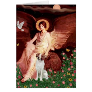 Brittany Spaniel 3b - Seated Angel Card