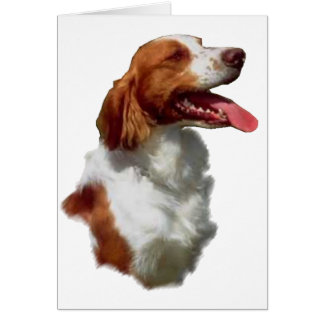 Brittany Spaniel Art Gifts Card