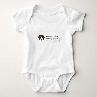 brittany spaniel baby bodysuit