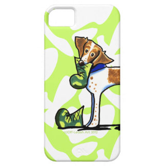 Brittany Spaniel Camouflage Boots iPhone 5 Case