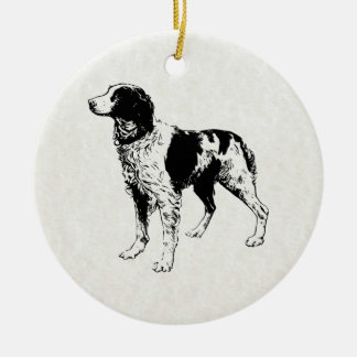 brittany spaniel ceramic ornament