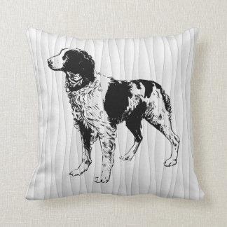 brittany spaniel cushion