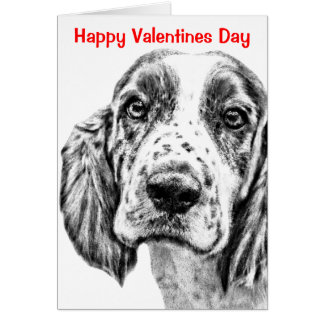 BRITTANY SPANIEL - Custom Valentines Day Card