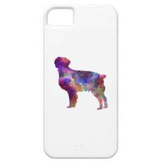 Brittany Spaniel in watercolor iPhone 5 Case