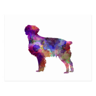 Brittany Spaniel in watercolor Postcard