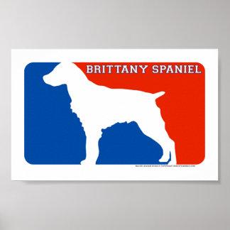 Brittany Spaniel Major League Dog Print