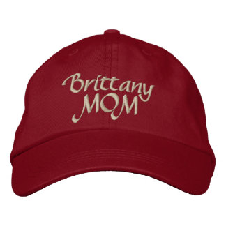 Brittany Spaniel Mom Gifts Embroidered Hat