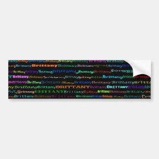 Brittany Text Design I Bumper Sticker