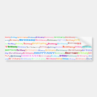 Brittany Text Design II Bumper Sticker
