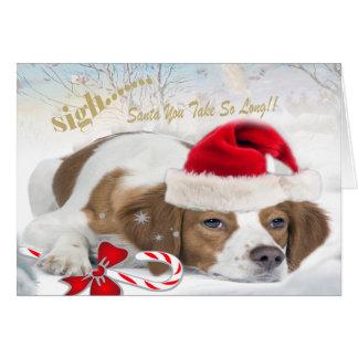 Brittney Santa Takes Too Long Card
