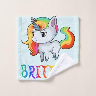 Brittney Unicorn Wash Cloth
