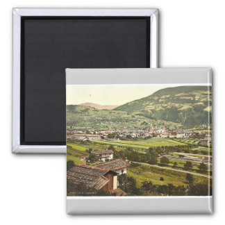 Brixen, II, Tyrol, Austro-Hungary rare Photochrom Square Magnet