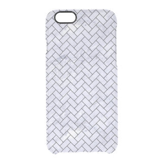 BRK2 BK-WH MARBLE (R) CLEAR iPhone 6/6S CASE