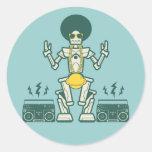 Bro Bot Round Stickers