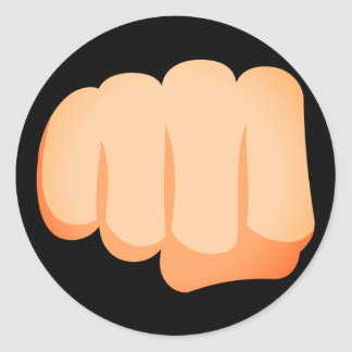 Bro Fist Emoji Classic Round Sticker
